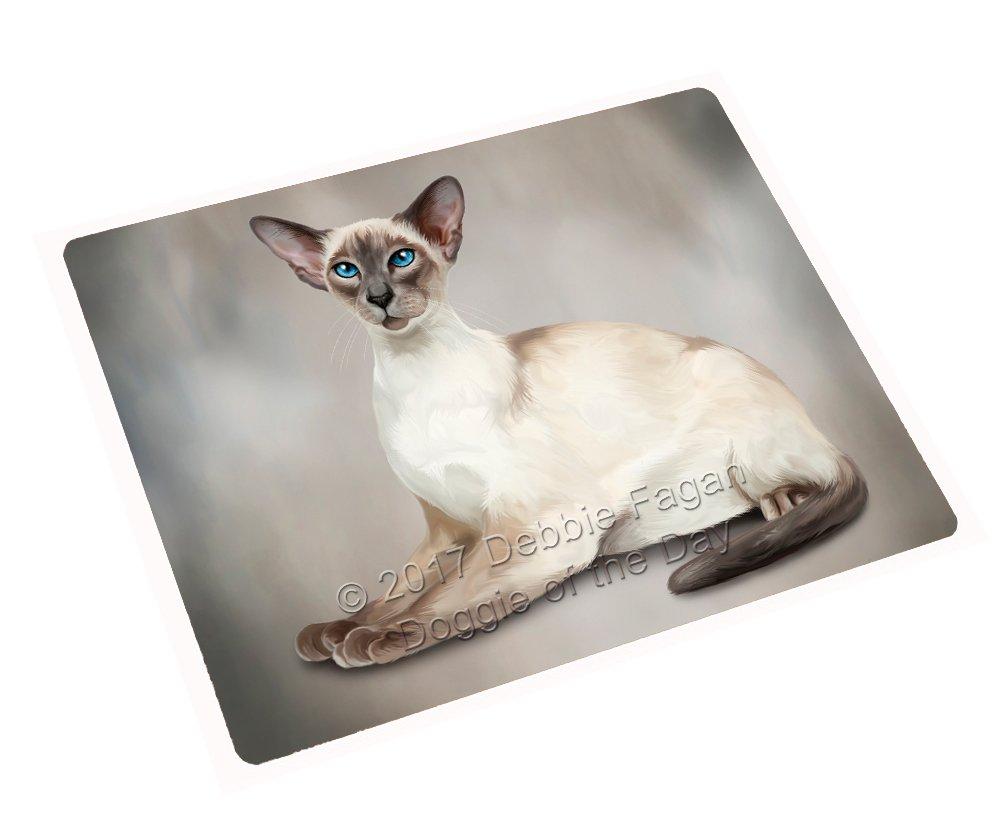 Thai Cat Art Portrait Print Woven Throw Sherpa Plush Fleece Blanket D010 (60x80 Fleece) by Doggie of the Day