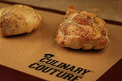 Culinary Couture Non-Stick Silicone Baking Mat Set, Bonus Ebook!