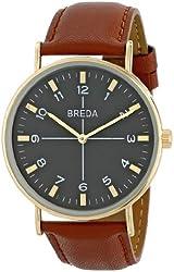 Breda Men's 1646B Analog Display Quartz Brown Watch