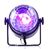 Gledto Disco Party Lights DJ Blacklight, 3 LED Mini Portable Stage Light Sound Activated Strobe Light Night Lamp for House Party Nightclub Karaoke Dance Wedding Ballroom Bedroom Event (with Remote)