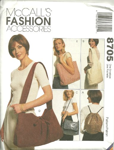 Bags, Slingbag, Totes, Backpacks And A Shoulder Bag McCall's Fashion Accessories Sewing Pattern (Mccalls Fashion Accessories)