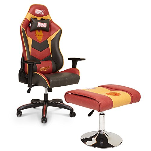 Licensed Marvel Avengers Iron Man Superhero Ergonomic High Back Swivel  Racing Style Desk Home Office Executive Computer Video Gaming Chair With  Headrest And ...