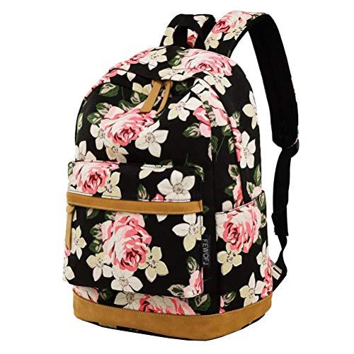 (Girl College School Backpack, Women Vintage Work/Business/Travel Rucksack 14Inch Laptop Bag)