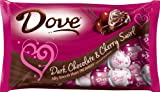 DOVE PROMISES Valentine Dark Chocolate and Cherry Swirl Candy Hearts 7.94-Ounce Bag (Pack of 4)