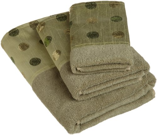 Popular Bath Sequins 3-Piece Towel Set, Green (Towel Bath Sets Inexpensive)