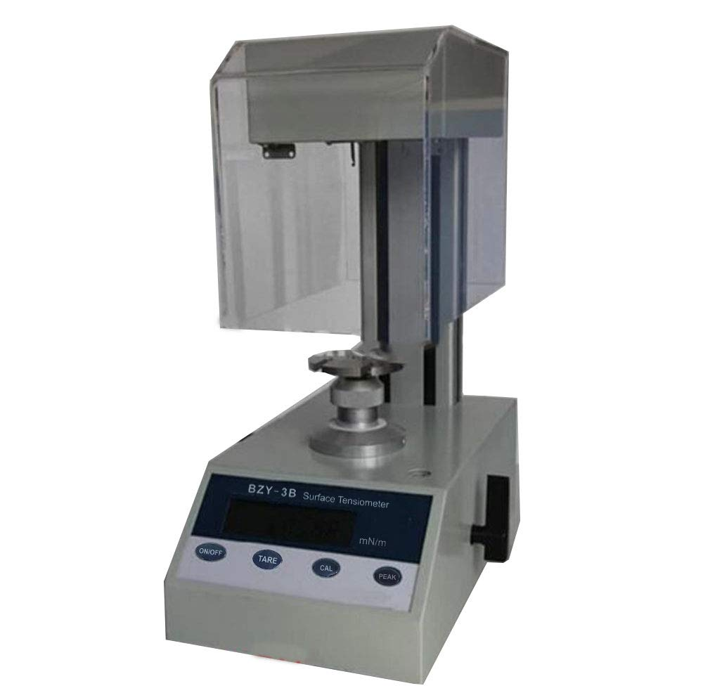 VTSYIQI Digital Surface Tension Meter Lab Professional Surface Interfacial Tensiometer Liquid Surface Interfacial Tension meter Platinum Ring method 0 to 400mN/m BZY-3B