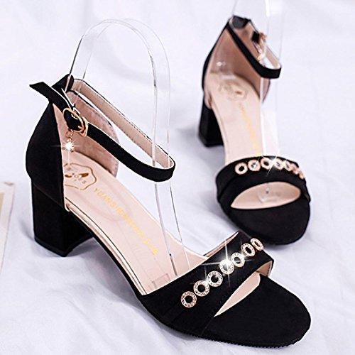 Böhmen Sommer Middle amp;H Wedges Frauen Heel Mode Bk S NEEDRA Sandalen Sandalen Weave Schuhe aYTvxX4