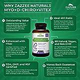 Zazzee Myo-Inositol + D-Chiro + Vitex, 120 Veggie