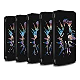 STUFF4 PU Leather Wallet Flip Case/Cover for Apple iPhone X/10 / Pack (24 Designs) Design / Rock Star Pose Collection