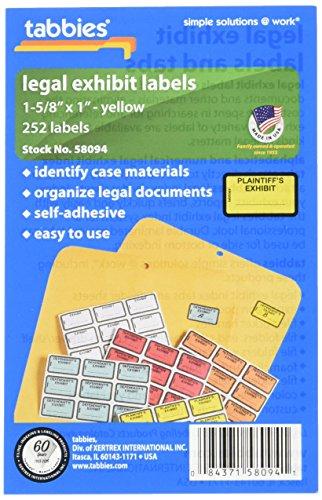 Tabbies Legal Plaintiff's Exhibit Label