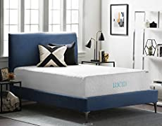 lucid 16 inch plush memory foam and latex mattress fourlayer infused with bamboou2026