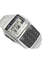 Casio #DBC32D-1A Men's Metal Band 25 Page Telememo Calculator Watch