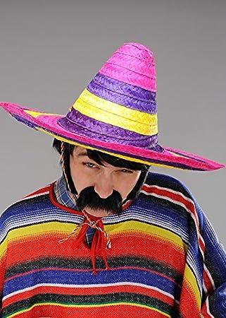 c64f2f7078a84 Sombrero de sombrero mexicano brillante grande para hombre  Amazon.es   Juguetes y juegos
