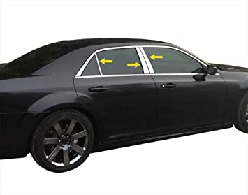 Chrome Pillar Post Covers for 2011-2016 Chrysler 300 6 Pieces