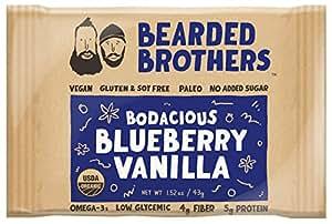 Bodacious Blueberry Vanilla Energy Bar - Raw, Vegan, Gluten & Soy Free, Non-gmo, Energy Bars (12-pack)