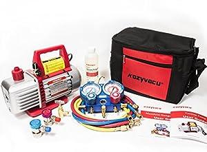 4. Kozyvacu TA350 Single-Stage Rotary Vane Vacuum Pump for HVAC/Auto