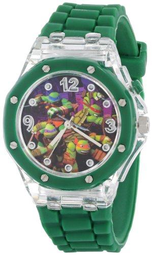 Nickelodeon Teenage Mutant Ninja Turtles Kids' TMN9014 Watch with Green Rubber Band