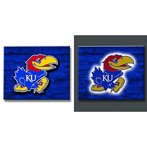 (Team Sports America Kansas Jayhawks LED Metal Wall)