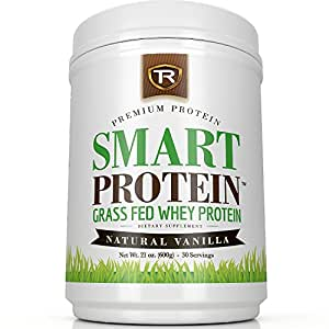 Grass Fed Whey Protein Powder - Certified Paleo Friendly - Natural Vanilla 100% Non-Gmo and Lactose Friendly for Men and Women - Non Denatured 30 Servings - Makes Delicious Shakes and Protein Treats