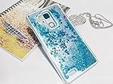 GOPROCELL (TM) NEW LG K10 GLITTER LIQUID BLING STARS FULL TPU LUXURY CASES METRO PCS AT&T T-MOBILE (BLUE)