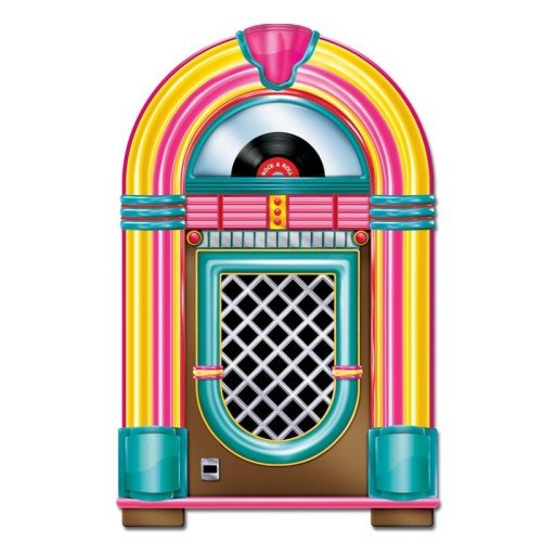 Beistle Jukebox Cutout Party Accessory 3-Feet Tall | Printed on both Sides | (1-Count)]()
