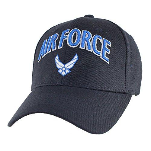 Force Air Cap Insignia (U.S. Air Force Insignia Stretch Fit Cap, Navy Blue)