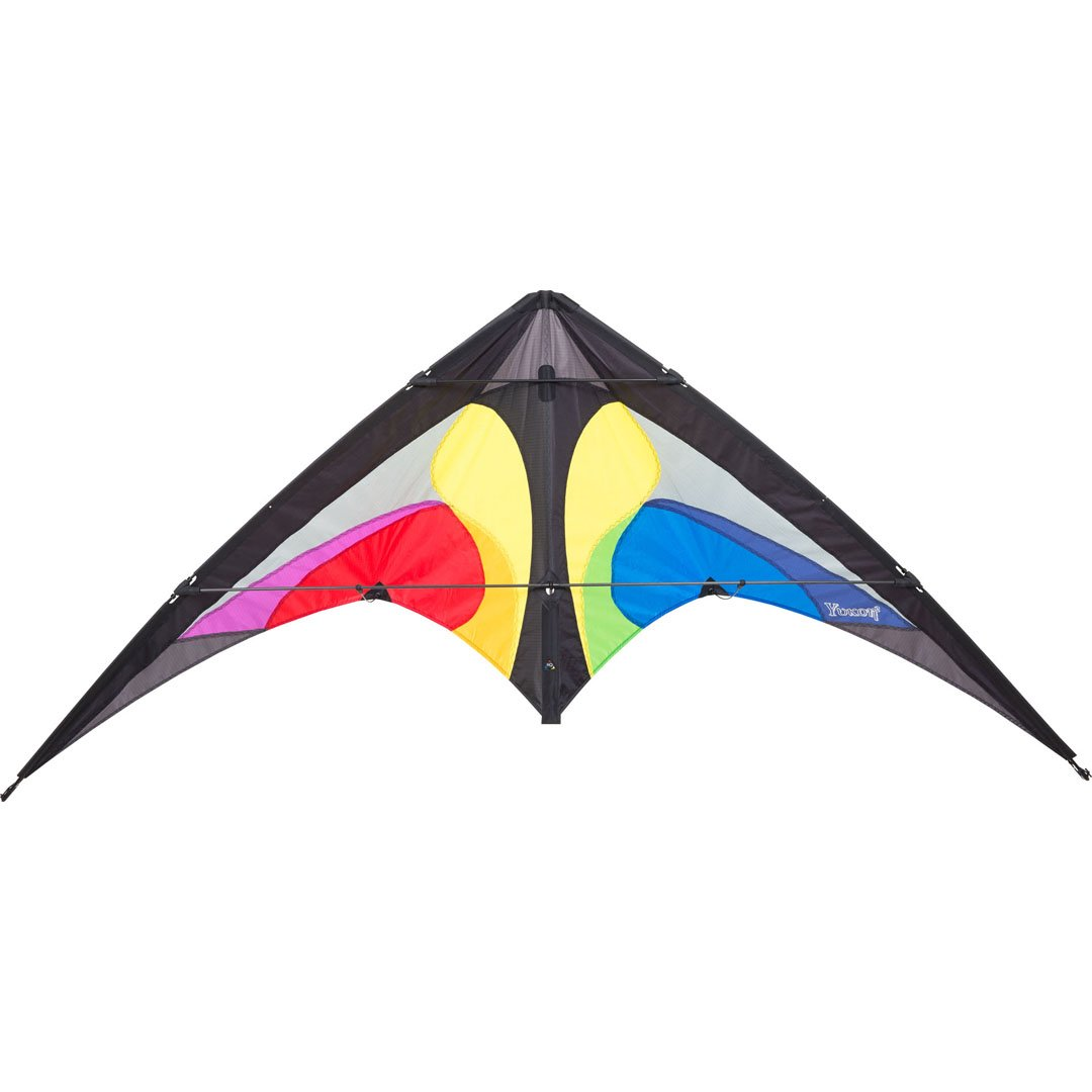 Invento 11677630 - Yukon II Rainbow Zweileiner Lenkdrachen, Ab 12 Jahren, 80 x 175 cm Ripstop-Polyester 2-6 Beaufort