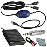 M-Audio USB Midisport Uno Portable 1x1 USB MIDI Interface for Mac & PC and Deluxe Accessory Bundle w/ Keyboard Sustain Pedal, Adapter, Dual MIDI Cable, & Fibertique Cloth