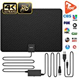 Updated 2018 Version Professional TV Antenna, Indoor Antenna TV Digital hd Antenna 80 Miles Range 4K HD Freeview Life Local Channels All Type Television Switch Amplifier Signal Booster Reviews