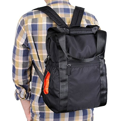 VASKER Nylon Baby Diaper Backpack for Dad and Mom Waterproof with Stroller Straps Changing Pad Wipes Holder VA-01 (Black) (Eco Diaper Bag)