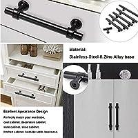 armario dormitorio ba/ño 10 unidades LHT18BK modernos tiradores de caj/ón negro tiradores cuadrados con pie cuadrado para cocina Gabinete negro mate negro