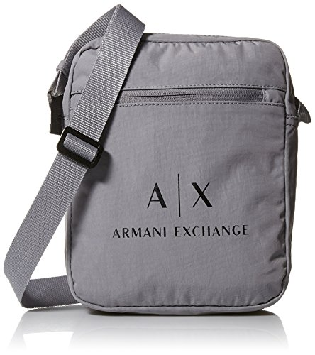 Armani Exchange Men's Crinkle Nylon Satchel Accessory, -alloy, - Armani Bags For Men Exchange