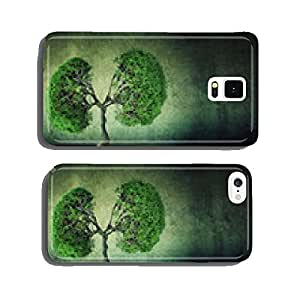 green tree shaped like human lungs growing from concrete floor cell phone cover case iPhone6