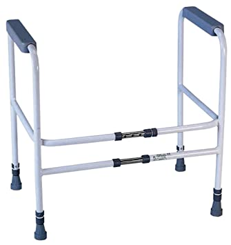 aidapt broad stairs toilet frame with adjustable height and width eligible for vat relief in