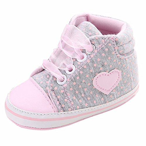 Walid-Baby Girls Shoes Princess Polka Dots Spring Autumn Toddler Newborn Lace-Up First Walkers ( 13-18 Months (Dallas Cowboy Toddler Halloween Costume)