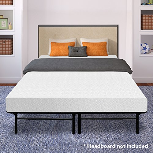 Best Price Mattress 8' Memory Foam Mattress and 14' Premium Steel Bed Frame/Foundation Set, Queen