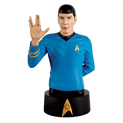Eaglemoss Star Trek Collector's Busts #02: Spock Polyresin Bust, Multicolor: Toys & Games