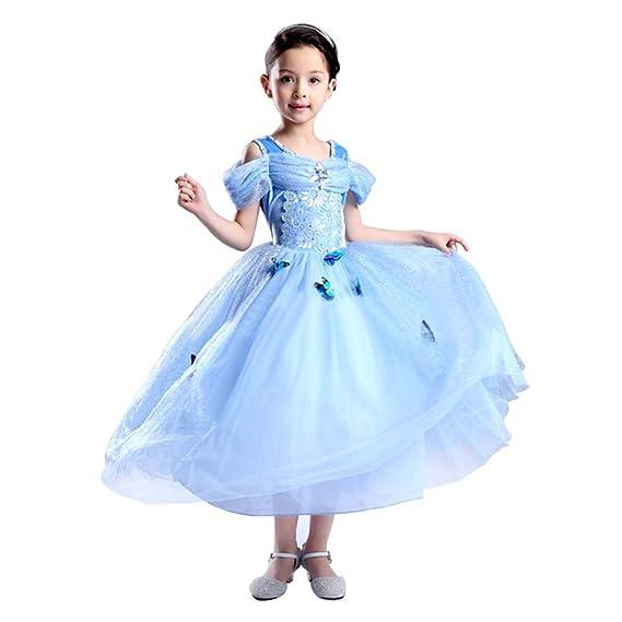 4987bea613586 Tacobear Costume da ragazza della principessa di Cenerentola delle ragazze Vestito  da ragazza della farfalla del