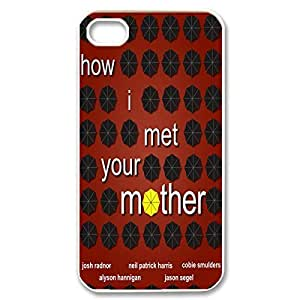 Fashionable How I Met Your Mother Design Sublimation Printed Personalized Case Cover for iPhone 4/iPhone 4s _White 30710