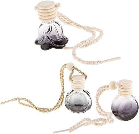 IPOTCH Paquete de Mini Botella de Perfume de Vidrio Frasco Colgante Decoración - Redondo, 20pcs