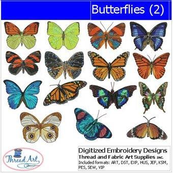 Threadart Machine Embroidery Designs - Butterflies(2) - USB Stick