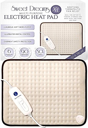 Sweet Dreams Electric XL Heat Pad with 6 Heat...