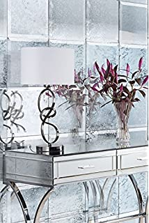myfurniture 6 x antiqued mirrored square wall tiles bevelled 30cm x 30cm