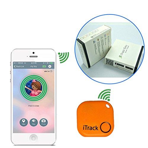 Two Keyfinders Trackr Bluetooth Lost Item Locators Orange & Random