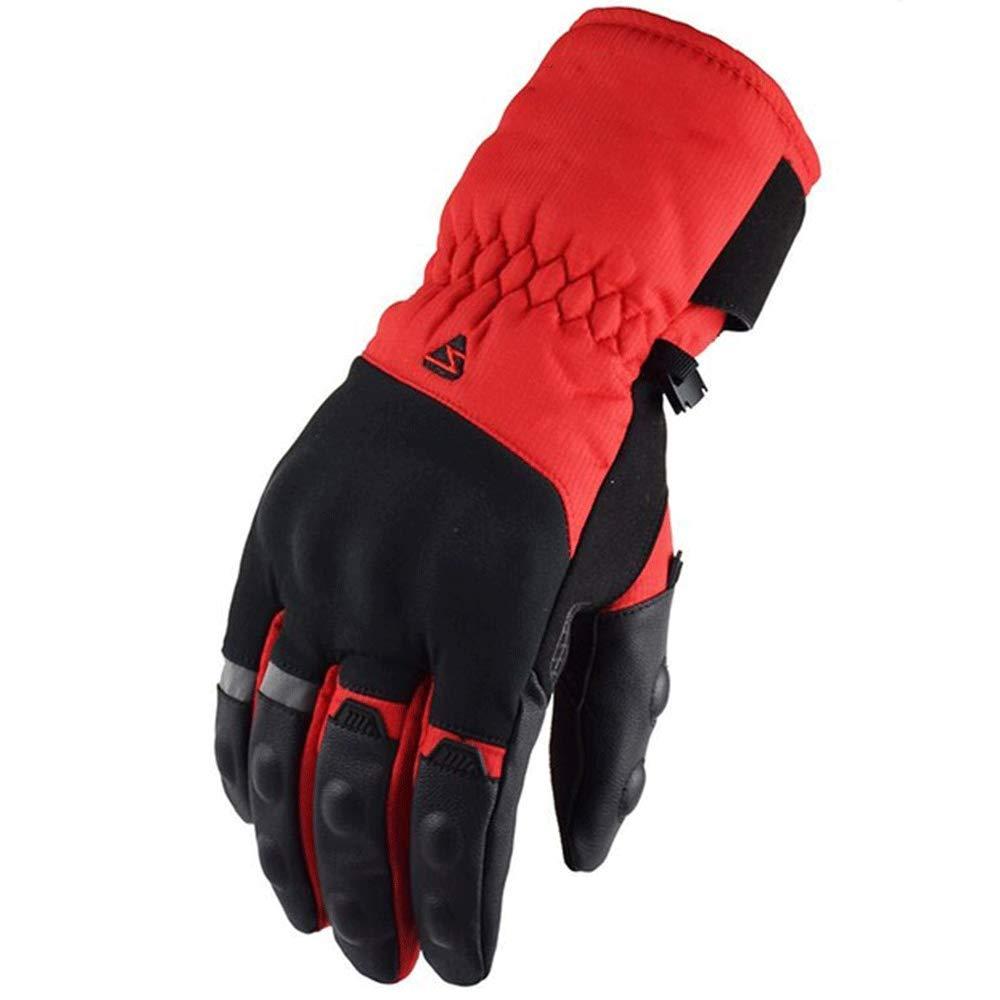 KLEDDP Motocross-Handschuhe Herren-Winter-Winterhandschuhe Aus Leder Schutzausrüstung Handschuhe, Eine Vielzahl Von Farben Handschuhe für Männer