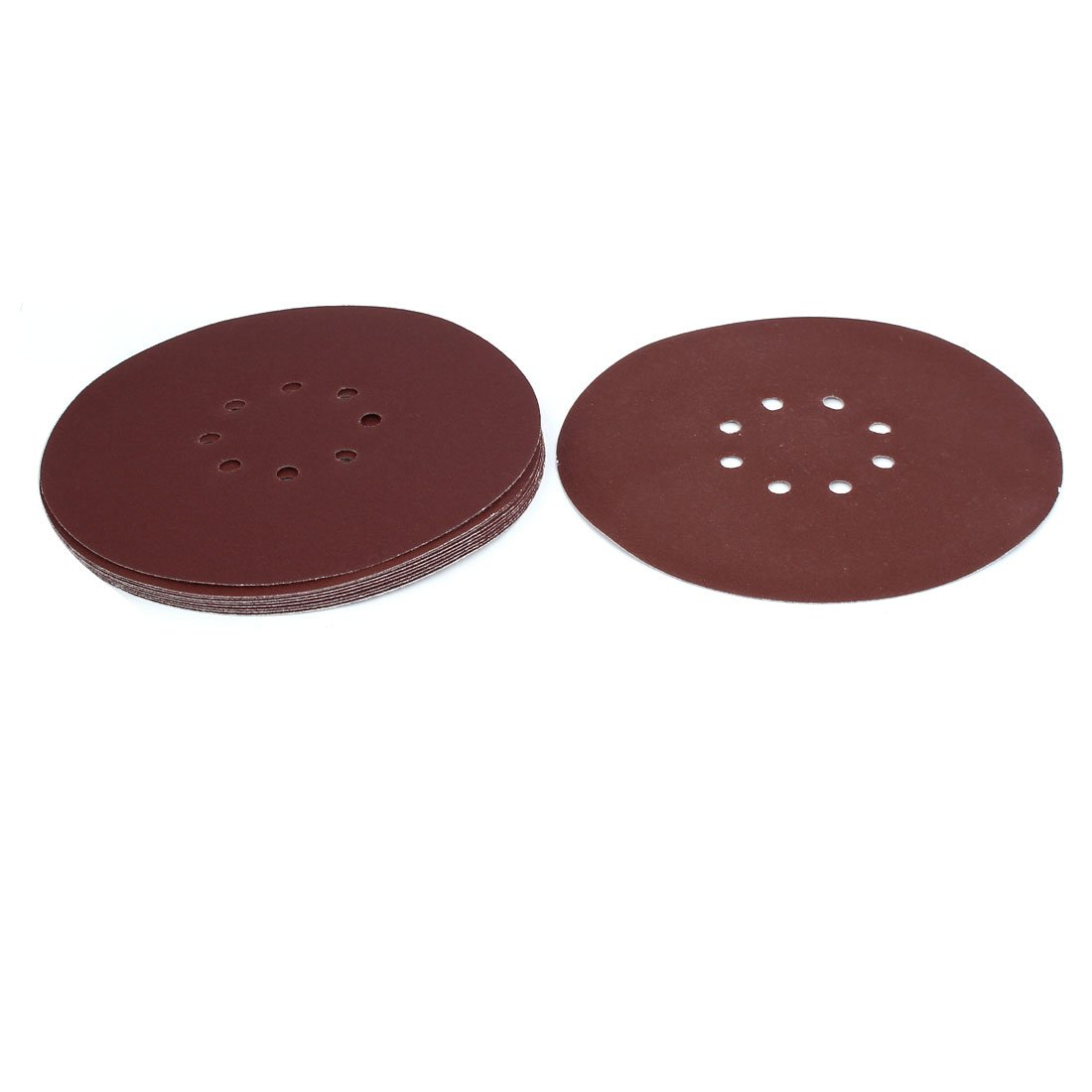 uxcell 9-inch Dia 120 Grits 8 Hole Hook-And-Loop Sanding Disc Polishing Pad 10pcs