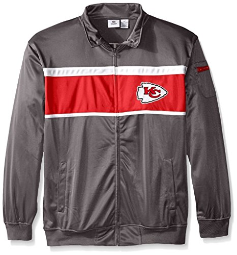 FL Mens Majestic 2 Sided Tricot Track Jacket Charcoal Big & Tall Sizes (XLT) (2 Sided Track Jacket)