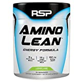 RSP AminoLean - Energy & Weight Loss Formula, BCAA Powder with CLA, Green Tea Extract and Caffeine for Building Lean Muscle and Burning Fat, Lemon Lime, 30 Servings
