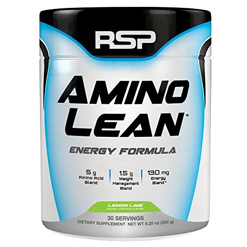 Ashbys Lemon Tea - RSP AminoLean - Amino Energy + Fat Burner, Pre Workout, Amino Acids & Weight Loss Powder for Men & Women, Lemon Lime, 30 Servings