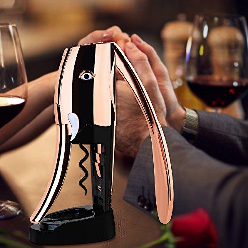 Maishiteng Elephant Rose Gold Wine Opener Corkscrew + Foil Cutter (Large Image)